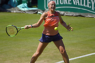 Agnieszka Radwanska (POL) Vs Jelena Ostapenko (LAT)Action at the Nature Valley International at Devonshire Park, Eastbourne, United Kingdom on 28th June 2018. Picture by Jonathan Dunville.