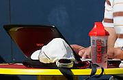 Lucerne, SWITZERLAND.  Man at work,  2012 FISA World Cup II, Lucerne Regatta.  Rotsee  Rowing Course,  Friday  25/05/2012  [Mandatory Credit Peter Spurrier/ Intersport Images]. SIS Bottle.