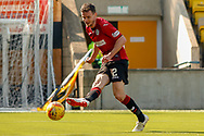 Paul McGinn (C) of St Mirren gets shot on goal during the Ladbrokes Scottish Premiership match between Livingston and St Mirren at Tony Macaroni Arena, Livingstone, Scotland on 20 April 2019.