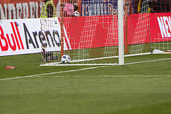 March 10, 2018 - Harrison, New Jersey, United States - Ball in the back of the net of Portland Timbers after Benjamin Mines (not pictured) scored during regular MLS game between Red Bulls & Portland Timbers at Red Bull Arena Red Bulls won 4 - 0 (Credit Image: © Lev Radin/Pacific Press via ZUMA Wire)