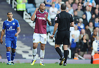 Football - The Championship - West Ham United vs. Leicester City<br /> John Carew - WHU argues with referee mr Linington
