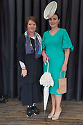 17/08/2017 Treena Sweeney from Millars and Winner of the best dressed competition Leanne O'Malley from Maam at the Connemara Pony Show in Clifden. Photo:Andrew Downes, xposure