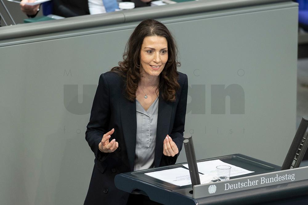 05 MAR 2021, BERLIN/GERMANY:<br /> Nicole Bauer, MdB, FDP, waehrend der Debatte zum Internationalen Frauentag; Plenum, Reichstagsgebaeude, Deutscher Bundestag<br /> IMAGE: 20210305-01-017