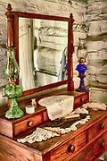 Antique dresser from a pioneer home in Texas around the turn of the 20th century
