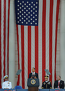 ARLINGTON, VA - May 25: President of the United States Barack Obama makes an address during the National Memorial Day Observance program in Arlington National Cemetery held on the last Monday in May.  Photo by Johnny Bivera