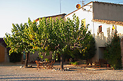 Winery building. Mas Comtal, Avinyonet, Penedes, Catalonia, Spain