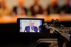 Presidente do SIMERS - Sindicato Médico do Rio Grande do Sul, Paulo Argolo,  durante coletiva de imprensa sobre a paralisação dos médicos gaúchos. FOTO: Jefferson Bernardes/Preview.com