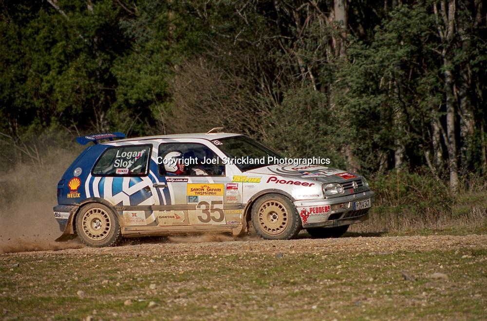 Jason Slot & Will Logan - Volkswagen Golf Mk3 Kit car - Saxon Safari Tasmania - ARC- 11th-12th September 1999