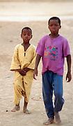 African Kids on Dakar Beach - Senegal