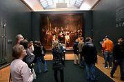 Rijksmuseum Amsterdam  National Museum Amsterdam-<br /> Titel / Title: De compagnie van Frans Banning Cocq en Willem van Ruytenburch, bekend als de 'Nachtwacht' / The most famous painting the Nightwatch-<br /> Jaartal/Year:1642-<br /> Kunstenaar/Painter:Rembrandt Harmensz. van Rijn -<br /> Techniek:Olieverf op doek-<br /> Afmetingen/Size:363 x 437 cm-