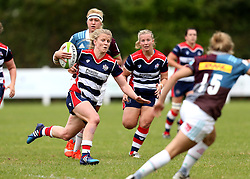 Claire Molloy of Bristol Ladies runs with the ball - Mandatory by-line: Robbie Stephenson/JMP - 18/09/2016 - RUGBY - Cleve RFC - Bristol, England - Bristol Ladies Rugby v Aylesford Bulls Ladies - RFU Women's Premiership