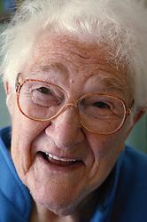 Portrait of elderly patient in Hospital,
