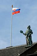 Staatsbezoek van de President van Slowakije , Zijne Excellentie president Ivan Gasparovic en zijn echtgenote Silvia Gasparovicova.<br /> <br /> Statevisit of the President of  Slowakije Ivan Gasparovic and his wife  Silvia Gasparovicova.<br /> <br /> Op de foto/ On the photo: <br /> <br /> Paleis op de Dam