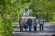 Spacerowicze w warszawskich Łazienkach, Polska<br /> Walkers in Royal Baths Park in Warsaw, Poland