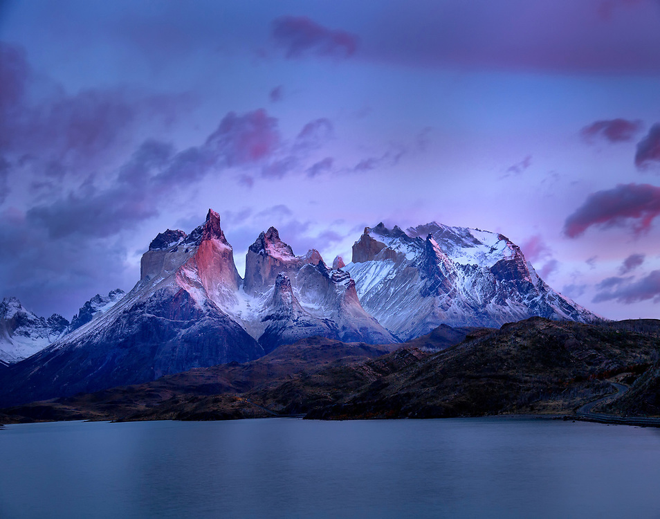 """Sunrise in Torres del Paine, Chilean Patagonia  <br /> <br /> 14"""" x 11""""<br /> <br /> See pricing page for details. Please contact me for custom sizes and print options including canvas wraps, metal prints, assorted paper options, etc. <br /> <br /> I enjoy working with buyers to help them with all their home and commercial wall art needs."""