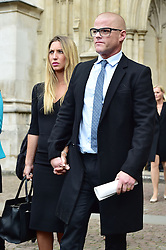 Heston Blumenthal  beim Gedenkgottesdienst f¸r Terry Wogan im Westminster Abbey in London / 270916<br /> <br /> ***Memorial service for Terry Wogan at Westminster in London, September 27th, 2016***