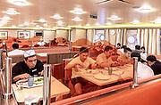 COSTA CROCIERE: sala da pranzo riservata al personale. eating room fot the staff