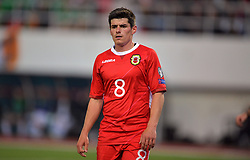 Gibraltar's Anthony Bardon during the UEFA Euro 2020 Qualifying, Group D match at the Victoria Stadium, Gibraltar.