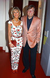 DAVID MELLOR and PENNY, VISCOUNTESS COBHAM at the 60th birthday party for Chris Wright held at Sketch, Conduit Street, London W1 on 7th September 2004.