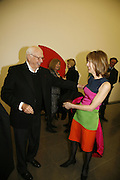 Ellsworth Kelly with Lucy Sisman, Ellsworth Kelly exhibition opening. Serpentine Gallery and afterwards at the River Cafe. London. 17 March 2006. ONE TIME USE ONLY - DO NOT ARCHIVE  © Copyright Photograph by Dafydd Jones 66 Stockwell Park Rd. London SW9 0DA Tel 020 7733 0108 www.dafjones.com