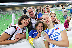 Ela Pintar of Slovenia with family after the volleyball match between National team of Turkey and Slovenia in Gold Medal game of Womens U23 World Championship 2017, on September 17, 2017 in SRC Stozice, Ljubljana, Slovenia. Photo by Morgan Kristan / Sportida