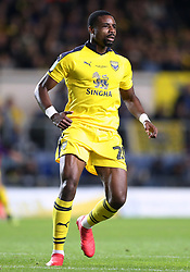 """Oxford United's Jonathan Obika during the Carabao Cup third round match at the Kassam Stadium, Oxford. PRESS ASSOCIATION Photo. Picture date: Tuesday September 25, 2018. See PA story SOCCER Oxford. Photo credit should read: Andrew Matthews/PA Wire. RESTRICTIONS: EDITORIAL USE ONLY No use with unauthorised audio, video, data, fixture lists, club/league logos or """"live"""" services. Online in-match use limited to 120 images, no video emulation. No use in betting, games or single club/league/player publications"""