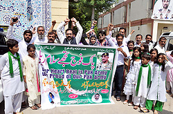 September 6, 2017 - Pakistan - MULTAN, PAKISTAN, SEP 06: Members of National Peace Committee are holding a .demonstration to present tribute to the heroes of 1965 war on the occasion of Defence Day of .Pakistan, in Multan on Wednesday, September 06, 2017. (Credit Image: © PPI via ZUMA Wire)