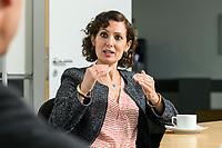 02 SEP 2020, BERLIN/GERMANY:<br /> Naika Foroutan, Politik- und Sozialwissenschaftlerin, im Gespraech, Bundeszentrale fuer politische Bildung<br /> IMAGE: 20200902-02-015