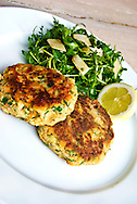 Hearty fishcakes and salad