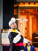 15 OCTOBER 2018 - INCHEON, SOUTH KOREA:  Traditional Korean entertainers put on a show for travelers at Incheon International Airport near Seoul.      PHOTO BY JACK KURTZ