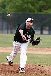 28 April 2012:  Matt Conrad during an NCAA division 3 Baseball game between the Augustana Vikings and the Illinois Wesleyan Titans in Jack Horenberger Stadium, Bloomington IL
