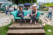 Cooper garden funiture on the Mybough Designs Stand - The Chelsea Flower Show organised by the Royal Horticultural Society with M&G as its MAIN sponsor for the final year. London 23 May, 2017