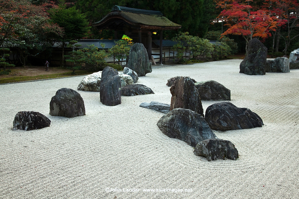 Banryutei rock garden is Japan's largest Zen Garden with 140 granite stones arranged to suggest dragons emerging from clouds to protect the temple.