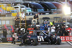 September 14, 2018 - Las Vegas, NV, U.S. - LAS VEGAS, NV - SEPTEMBER 14: Brandon Jones (51) Delta Faucet, Menards Toyota Tundra in for a pit stop during the World of Westgate 200 NASCAR Camping World Truck Series Playoff Race on September 14, 2018, at Las Vegas Motor Speedway in Las Vegas, NV. (Photo by David Griffin/Icon Sportswire) (Credit Image: © David Griffin/Icon SMI via ZUMA Press)