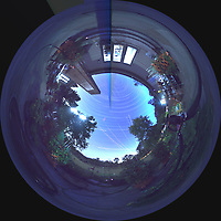 Summertime Night Sky over New Jersey (360 Tunnel View Panorama). Composite of images (20:12-03:20) taken with a Ricoh Theta Z1 camera (ISO 400, dual 2.6 mm fisheye lens, f/2.1, 60 sec). With image alignment in Photoshop CC (scrips,statistics, maximum, align images)