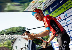 Winner Phil BAUHAUS of BAHRAIN VICTORIOUS celebrates during 1st Stage of 27th Tour of Slovenia 2021 cycling race between Ptuj and Rogaska Slatina (151,5 km), on June 9, 2021 in Slovenia. Photo by Vid Ponikvar / Sportida
