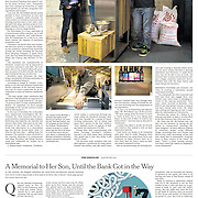 """Tearsheet of """"Brewbot"""" published in The New York Times"""