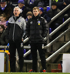 Oldham Athletic Manager, Dean Holden - Photo mandatory by-line: Matt McNulty/JMP - Mobile: 07966 386802 - 24/03/2015 - SPORT - Football - Oldham - Boundary Park - Oldham Athletic v Rochdale - SkyBet League 1