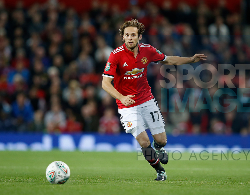Daley Blind of Manchester United during the Carabao Cup Third Round match at the Old Trafford Stadium, Manchester. Picture date 20th September 2017. Picture credit should read: Simon Bellis/Sportimage
