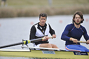 Eton, United Kingdom  GBR M2- Bow. Greg SEARLE and Tom RANSLEY, at the start of their heat of the men's pair at the 2012 GB Rowing Senior Trials, Dorney Lake. Nr Windsor, Berks.  Saturday  10/03/2012  [Mandatory Credit; Peter Spurrier/Intersport-images]