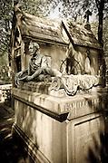 Mausoleum and grave of Henri Leglise at Père Lachaise Cemetery, Paris, France