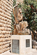 Israel, Jerusalem, Mount Zion, King David's statue by Alexander Dyomin