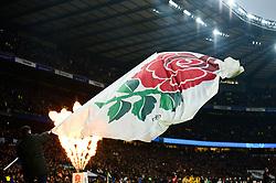 England flag - Mandatory by-line: Dougie Allward/JMP - 24/11/2018 - RUGBY - Twickenham Stadium - London, England - England v Australia - Quilter Internationals