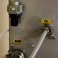 Canada, Nova Scotia, Guysborough. Microbrew elements and hoses.