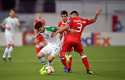 Republic of Ireland's Sean Maguire (left) and Gibraltar's Joseph Chipolina battle for the ball during the UEFA Euro 2020 Qualifying, Group D match at the Victoria Stadium, Gibraltar.