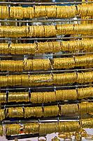Bangles (gold bracelets), Jewerly store, Gold Souk, Dubai, United Arab Emirates