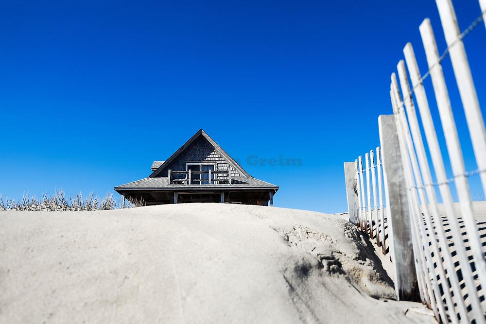 Secluded beach house.