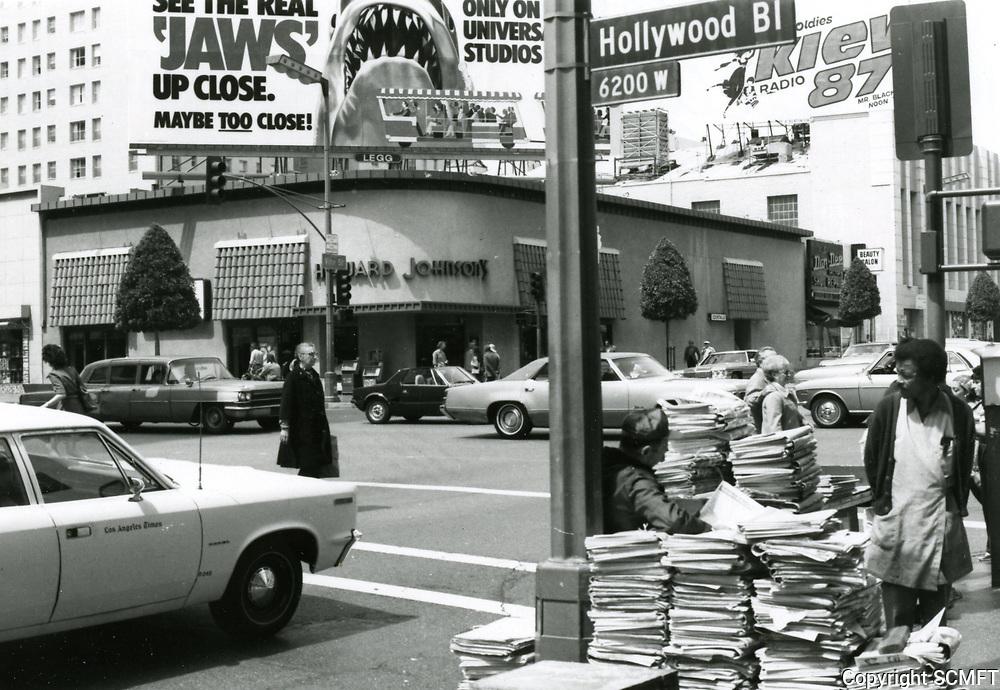 1976 Howard Johnson's Restaurant at Hollywood & Vine