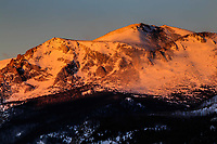 12,922 ft. Stones Peak at sunrise.  Rocky Mountain National Park, Colorado.