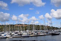 Yachts, Mylor Churchtown, Cornwall, UK Oct 2020
